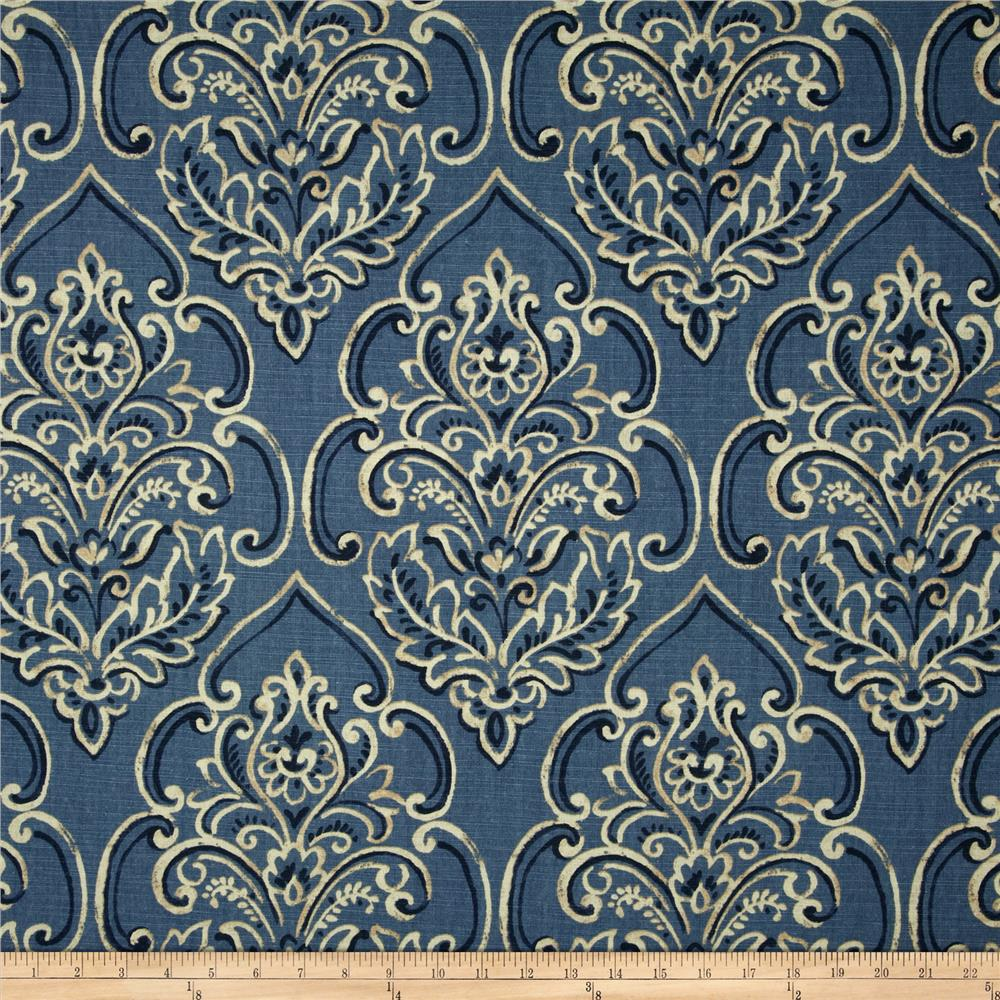 Duralee Home William Damask Blueberry