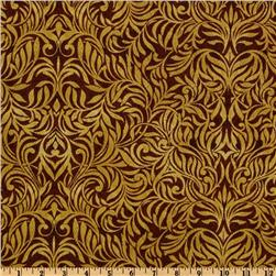 Benartex Northern Exposure Damask Rust/Linen