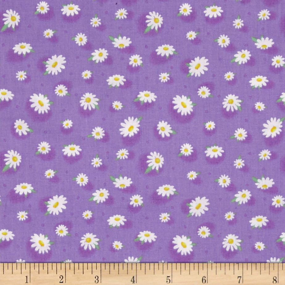 Doo Dads Daisies Purple Fabric by Fabri-Quilt in USA