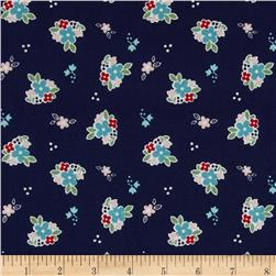 Riley Blake Country Girls Country Floral Navy