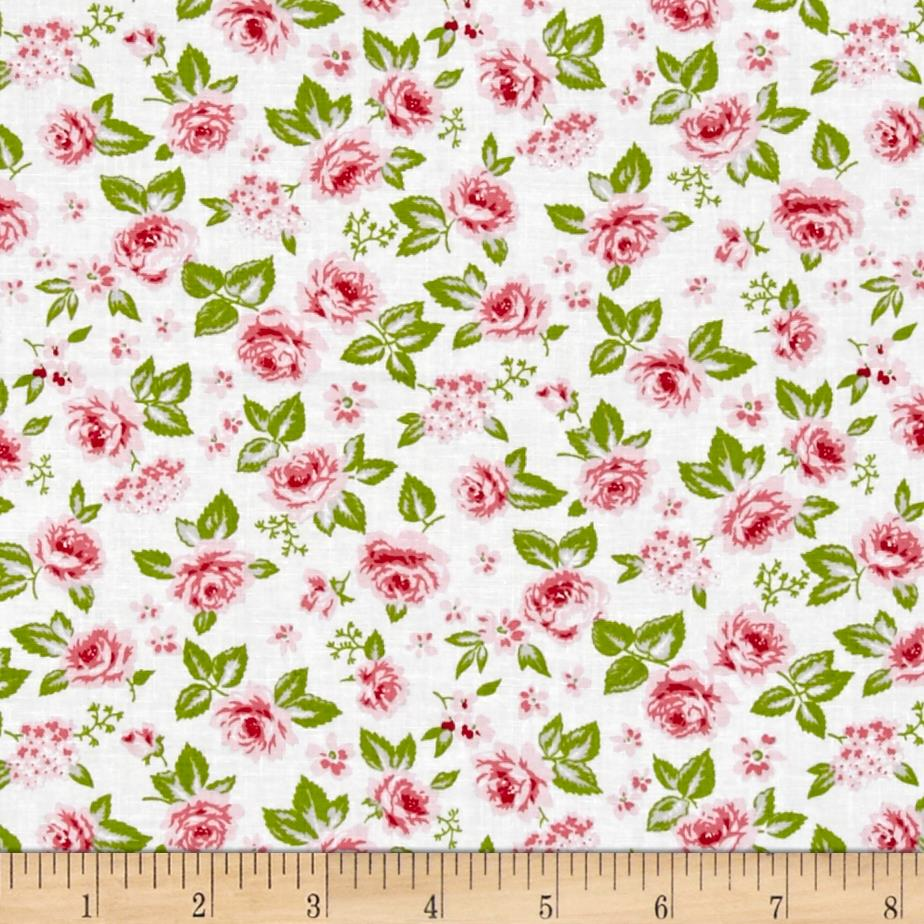 Moda sew sew garden strawberry whipcream discount for Cheap sewing fabric