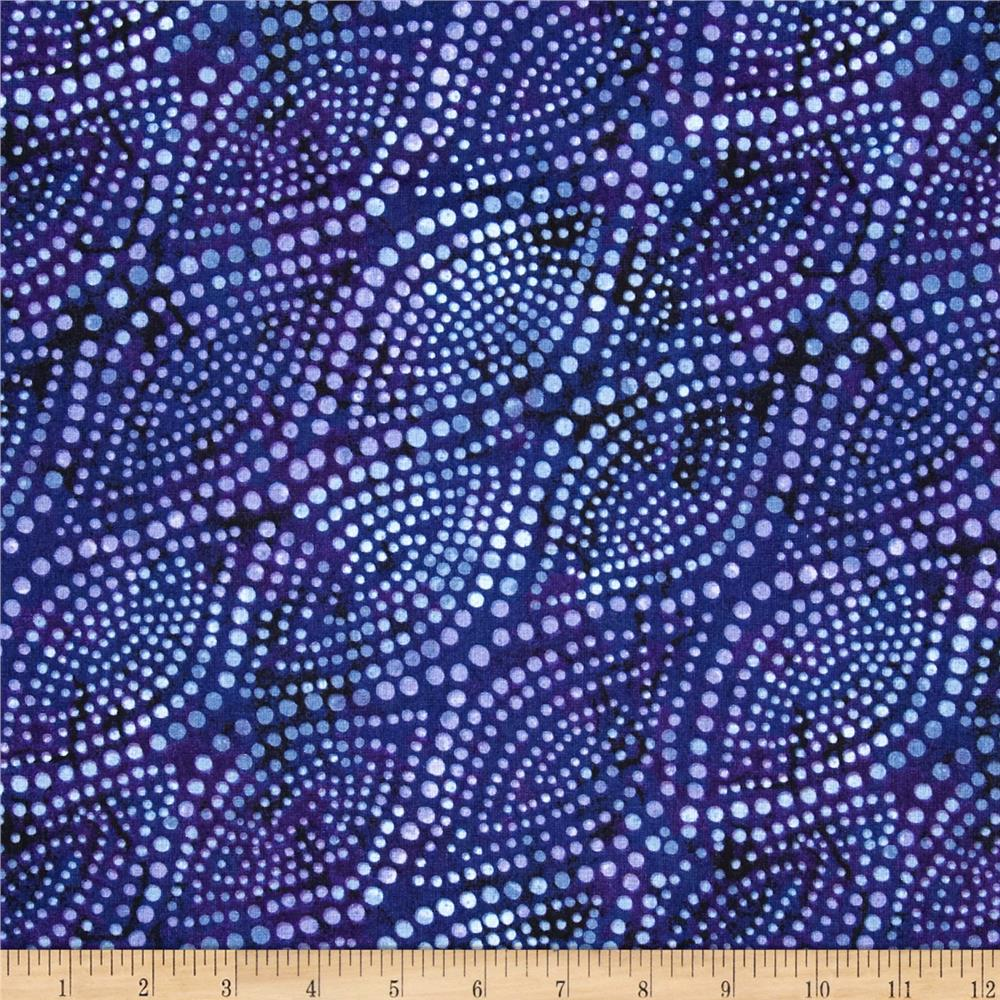"108"" Wide Essential Quilt Backing Diagonal Dots Blue/Purple"