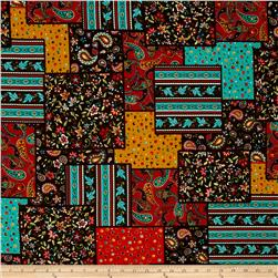 Floral Paisley Patchwork Multi