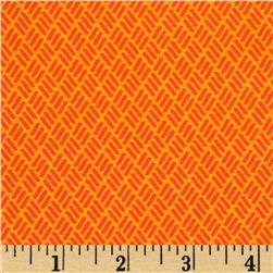 Moda Simply Colorful Hash Marks Orange