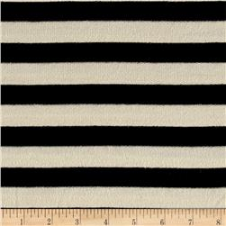 French Terry Knit Stripe Black/Ivory