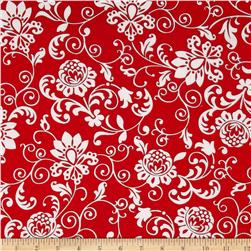 Steppin' Out Damask Red