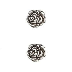 Metal Button 3/4'' Nambe Rose Antique Silver