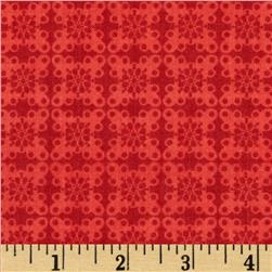 Victory Geometric Blender Red Fabric