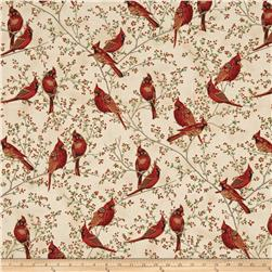 Good Tidings Cardinals Cream/Gold