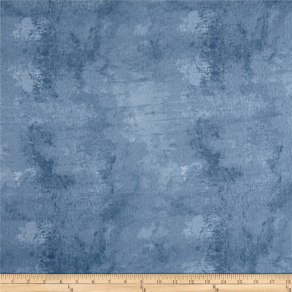 Flannel Bark Dark Denim Fabric