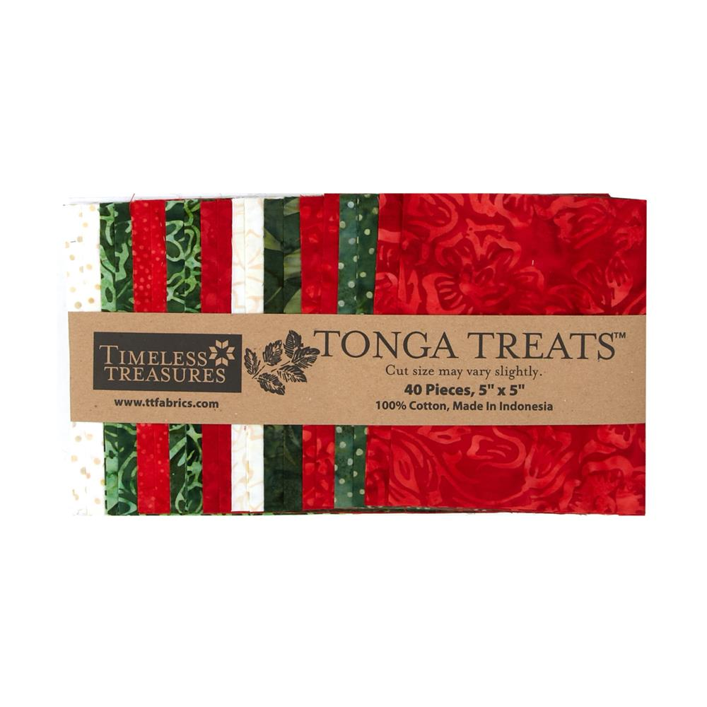 Timeless Treasures Tonga Batik Jingle 5 In. Squares