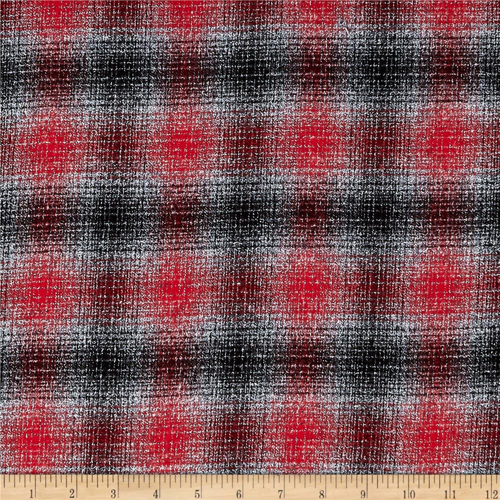 Kaufman Mammoth Flannel Plaid Platinum