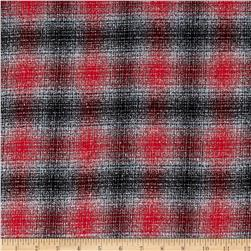 Kaufman Mammoth Flannel Plaid Platinum Fabric