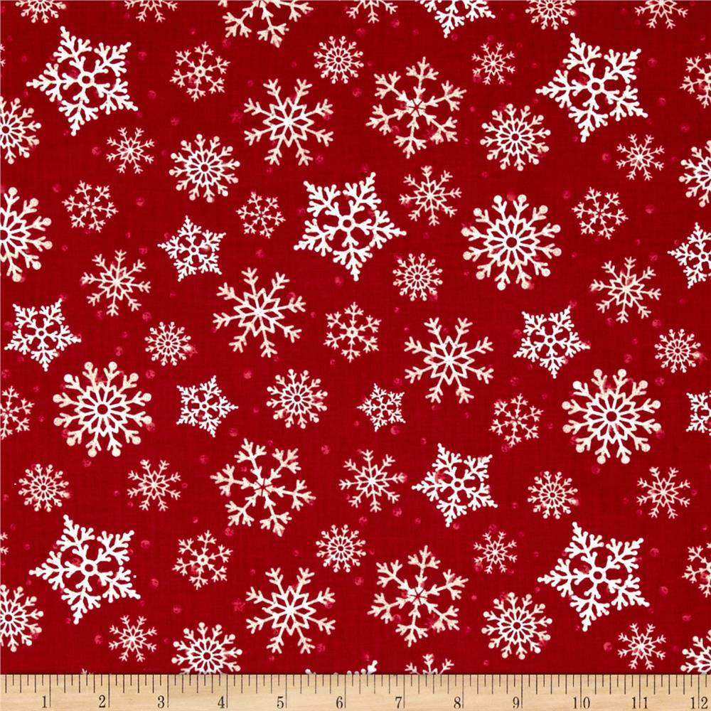 Reason For The Season Packed Snowflakes Red