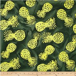 Indian Batik Kolina Fields Pineapple Green