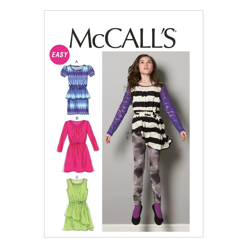 McCall's Children's/Girls' Dresses Pattern M6787 Size GIRL