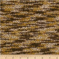 Boucle Sweater Knit Brown/Gold/Cream
