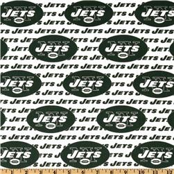 NFL Cotton Broadcloth New York Jets Green/White