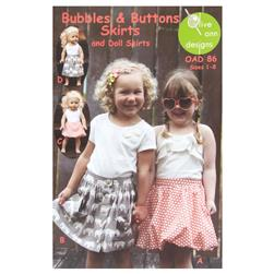 Olive Ann Designs Bubble & Button Skirts & Doll Skirt Pattern