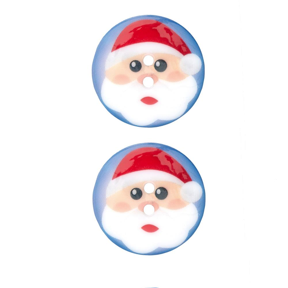 Novelty Winter Wonder Button 1 1/8'' Santa