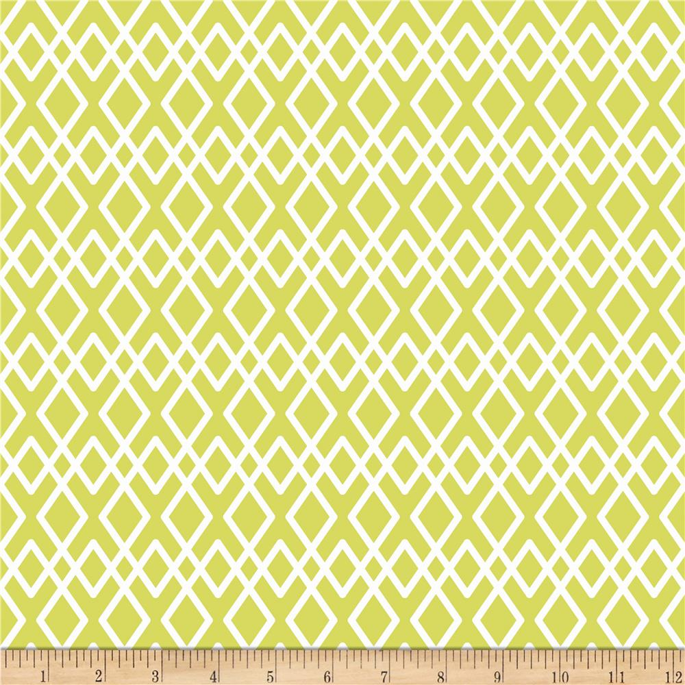 Riley Blake Lula Magnolia Lattice Green