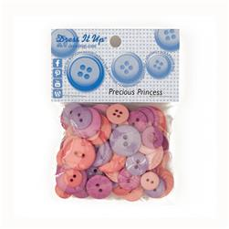 Dress It Up Color Me Collection Buttons Precious Princess Pink/Lavender
