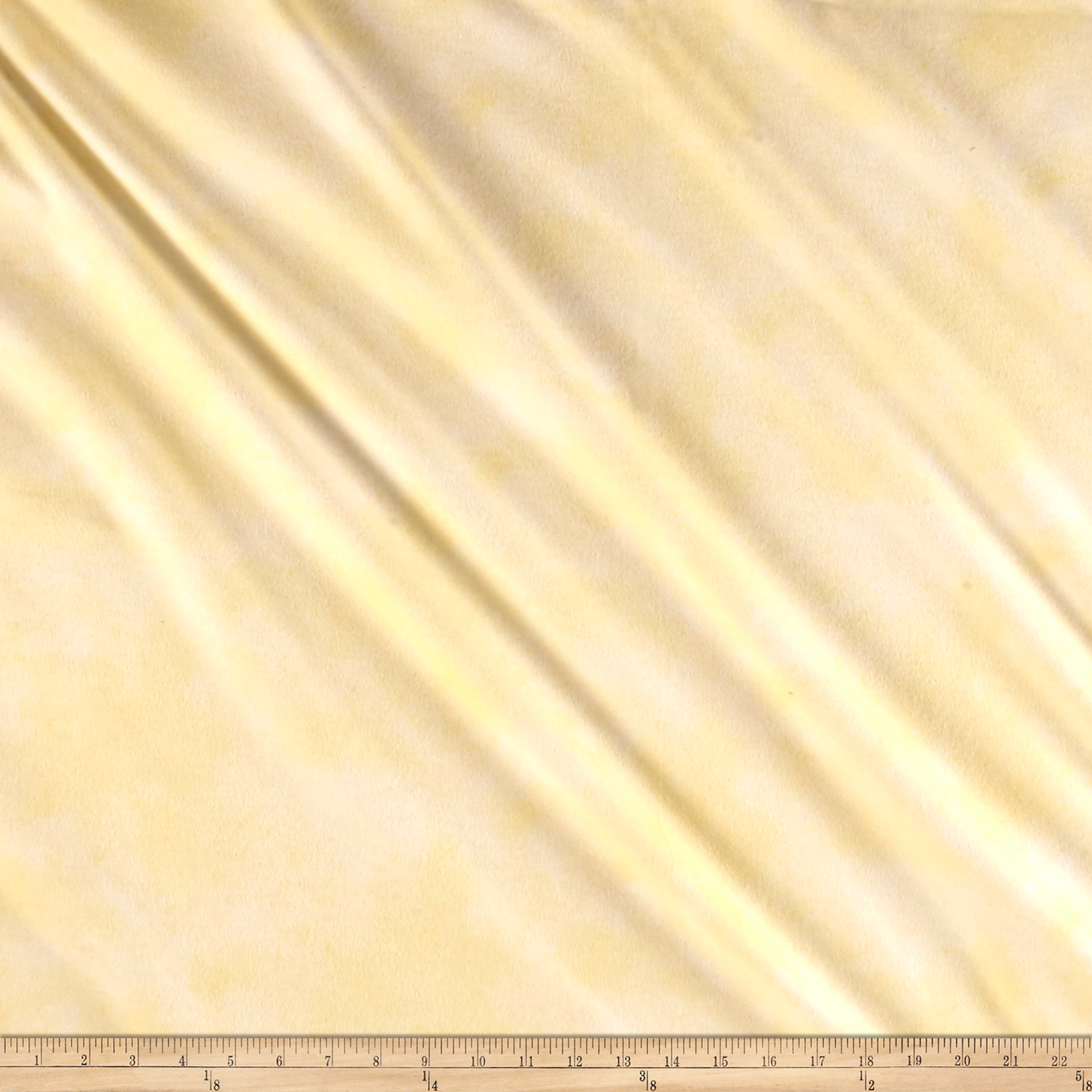Suede Flannels Light Yellow Fabric by P & B in USA