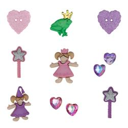 Dress It Up Embellishment Buttons  Little Princess