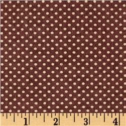 Cuddle Flannel Dots Brown