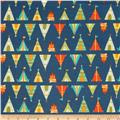 Happy Camper Flannel Teepees + Tents Blue