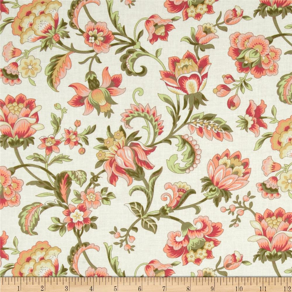 Subtle Sunset Large Floral Cream