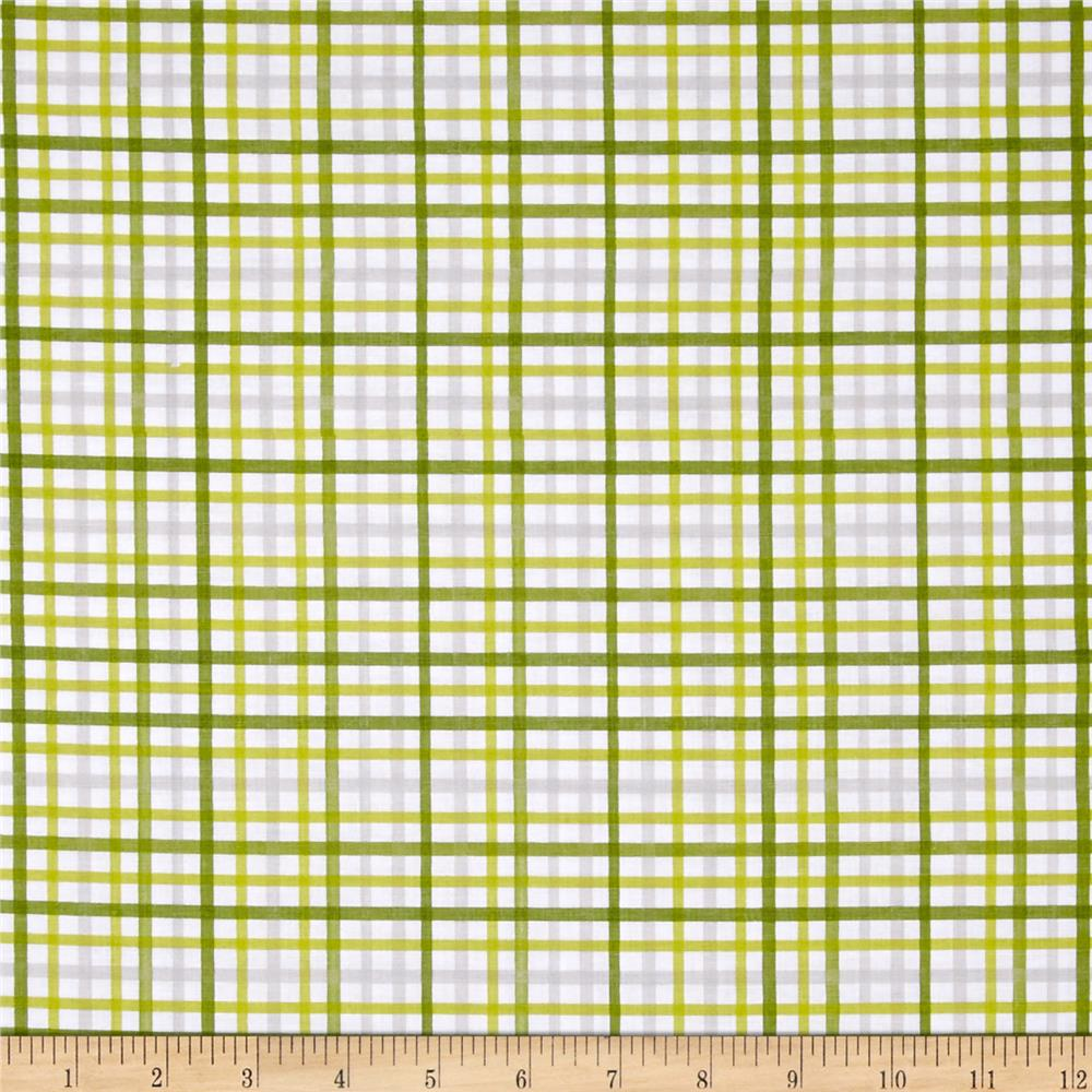 Riley Blake Military Max Plaid Green