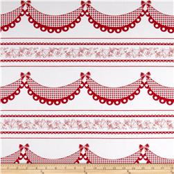 108'' Wide Quilt Backing Folio Vines Red/White