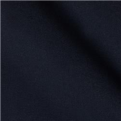 Poly/Cotton Twill Black Navy Fabric