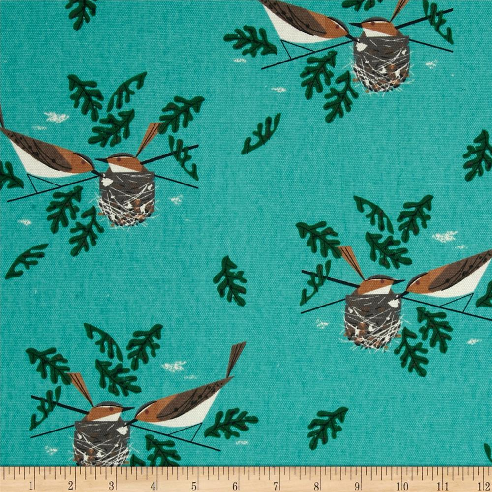 Birch Organic Canvas Charley Harper Red Eye Vireo