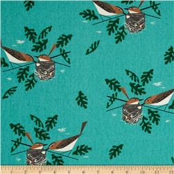 Birch Organic Canvas Charley Harper Red Eye Vireo Aqua