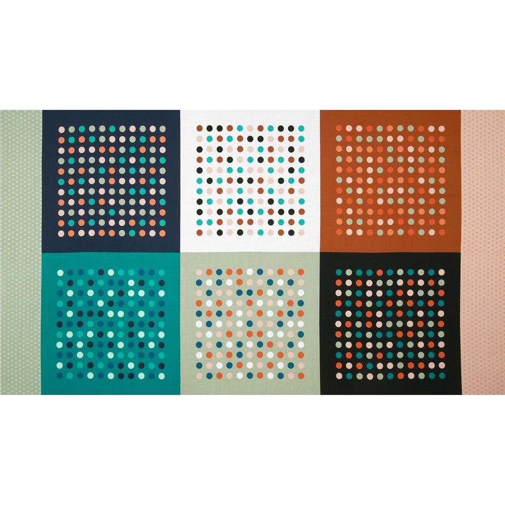 "Cotton + Steel Homebody Hanky Dot 24"" Panel"