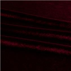 Stretch Velvet Burgundy