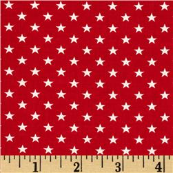 Stars & Stripes II Stars Red/White Fabric