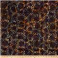 Bali Handpaints Batiks Sunflower Eggplant