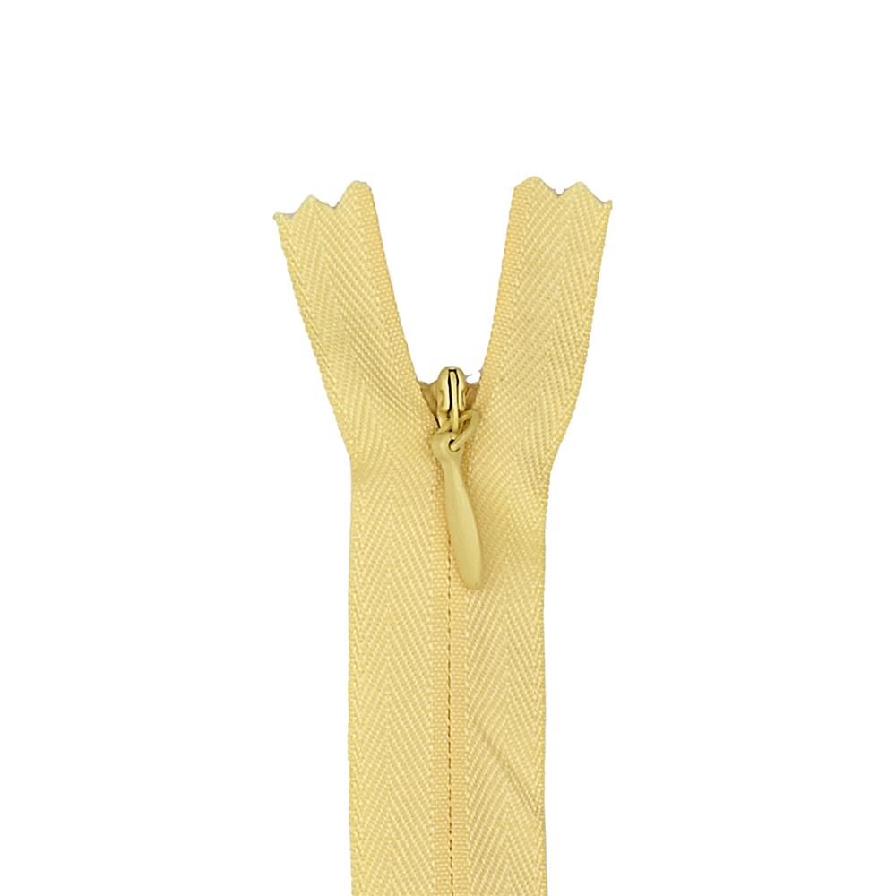 "POLY INVISIBLE ZIPPER 12-14"" Primrose"