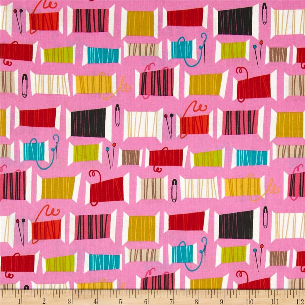 Nicole's Prints Cool Spools Thread Hot Pink