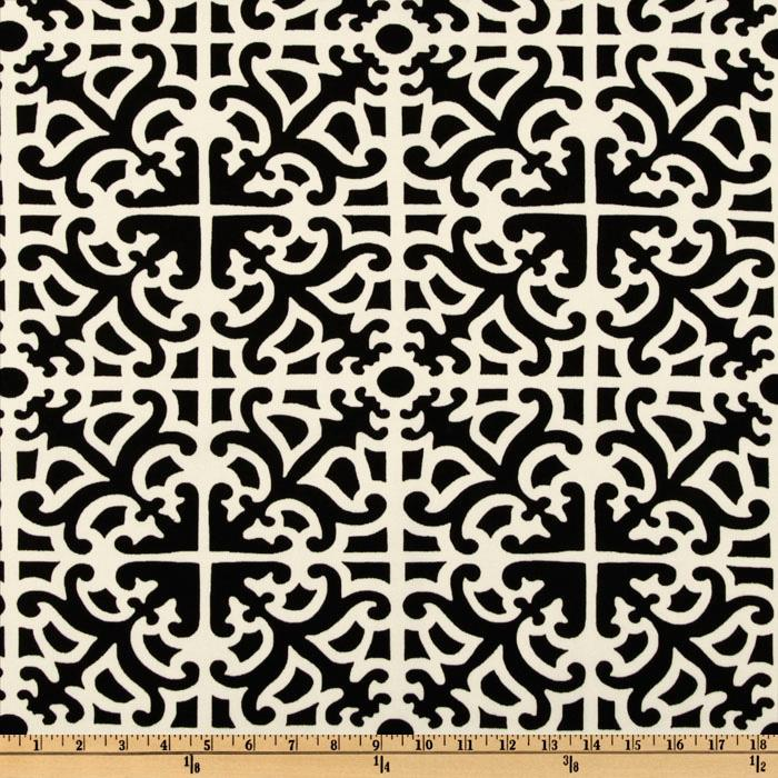 Waverly Sun N Shade Parterre Damask Ebony