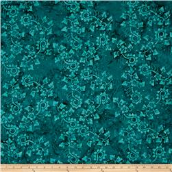 Timeless Treasures Tonga Batik Copper Cottage Calico Teal