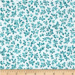 Michael Miller Poppy Love Tiny Bloom Turquoise Fabric