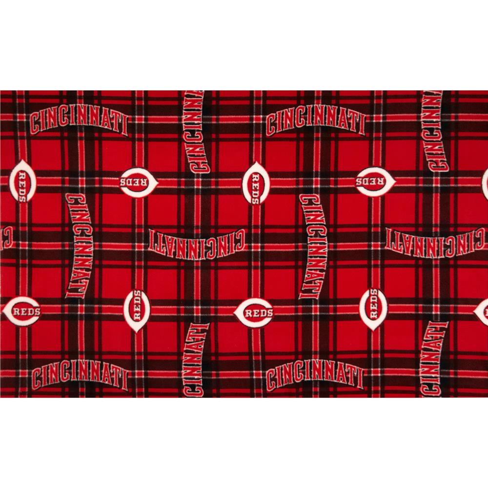 MLB Fleece Cincinnati Reds Fabric By The Yard