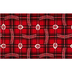 MLB Fleece Cincinnati Reds Plaid Red/Black