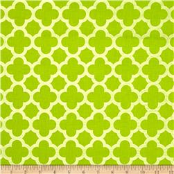 Riley Blake Sparkle Quatrefoil Lime