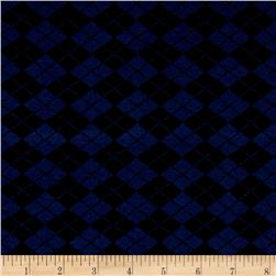 Hatchi Knit Checkered Diamonds Indigo/Black