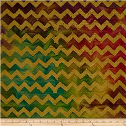 Indian Batiks Chevron Tea-Dye